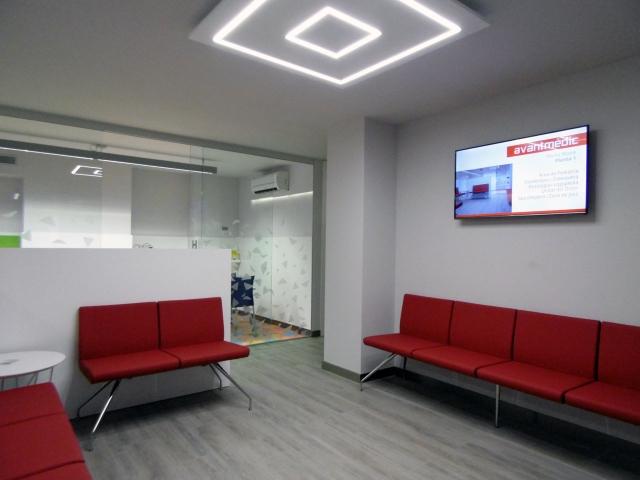 Sala de espera del Área de Pediatria de Avantmèdic en Rovira Roure