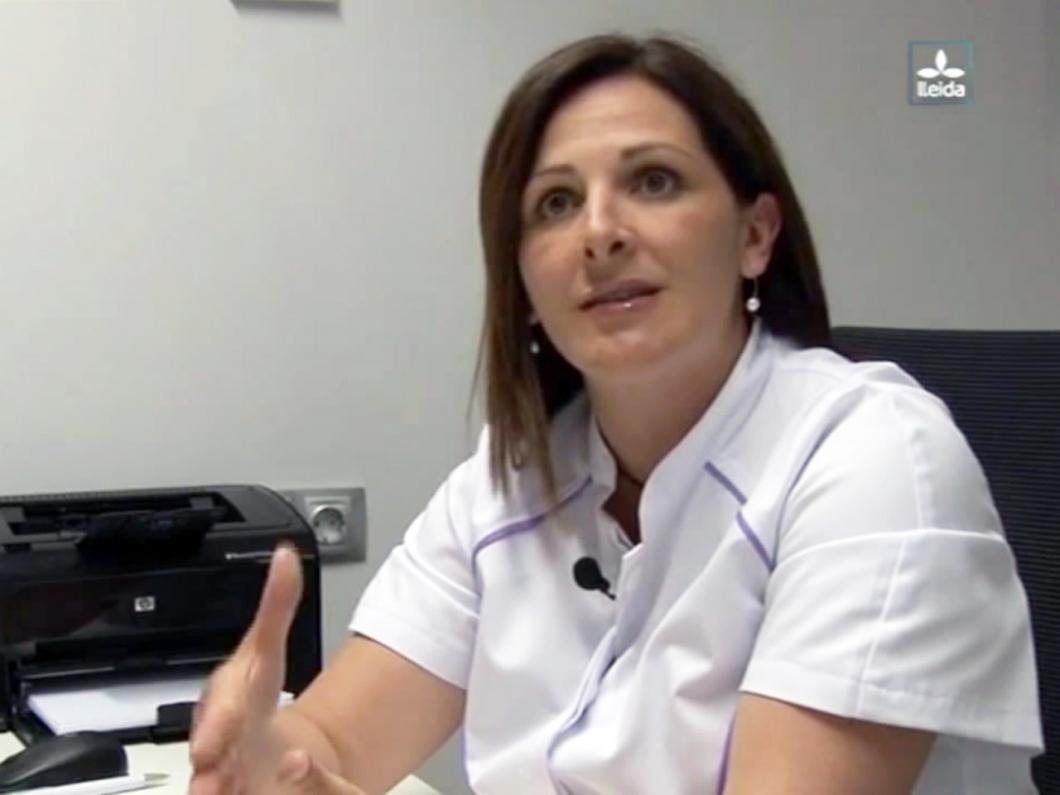 La Sra. Pilar Alarcón en el programa 7Mana de Lleida TV