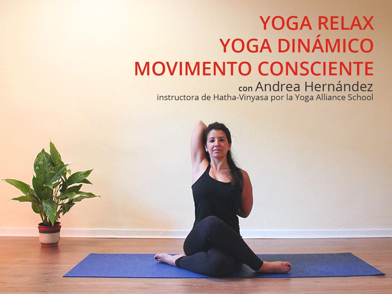 Curso de yoga con Andrea Hernández