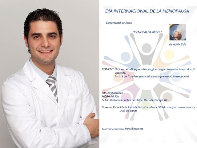 Dr. Aixalà xerrada Menopausa del Dia Internacional de la Menopausa