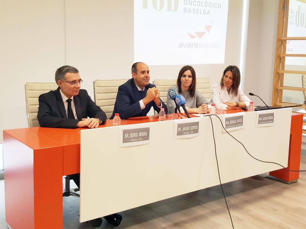 Acord conveni de col·laboració Institut Oncològic Baselga (IOB)