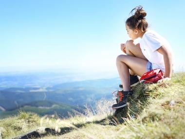 Chica en la montaña