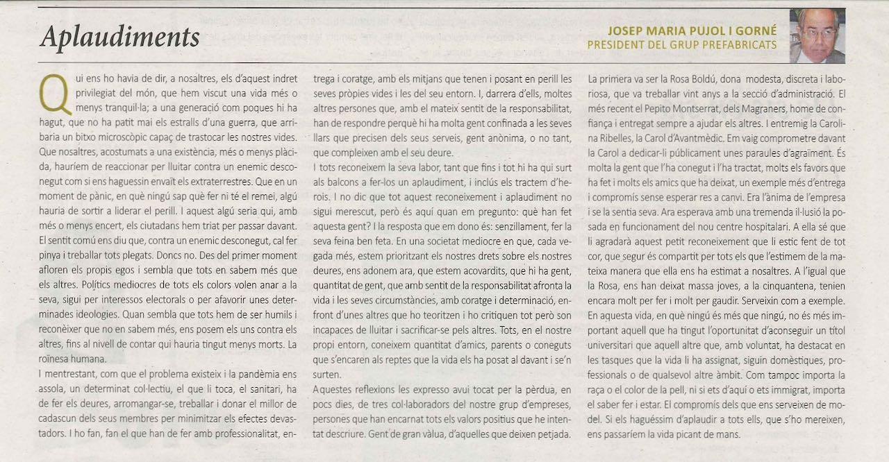 2020-09-27 Escrit Josep M. Pujol